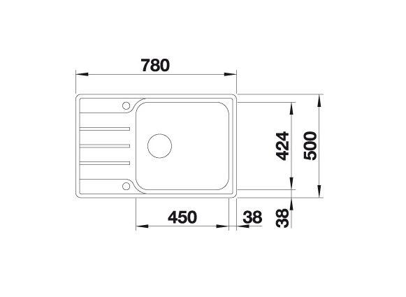 Blanco Lemis Xl 6 S-If Compact 525110 Rvs Spoelbak Inclusief Draaiknopbediening Omkeerbaar Vlakbouw Of Opbouw