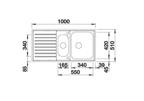 Blanco Classic Pro 6 S-If 523665 Anderhalve Spoelbak Rvs Inclusief Draaiknopbediening Omkeerbaar Vlakbouw Of Opbouw