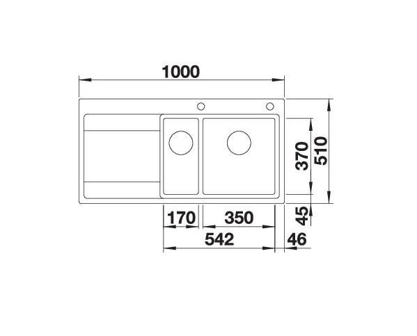 Blanco Divon Ii 6-S-If 521661 Rvs Anderhalve Spoelbak Links Inclusief Draaiknopbediening Vlakbouw Of Opbouw