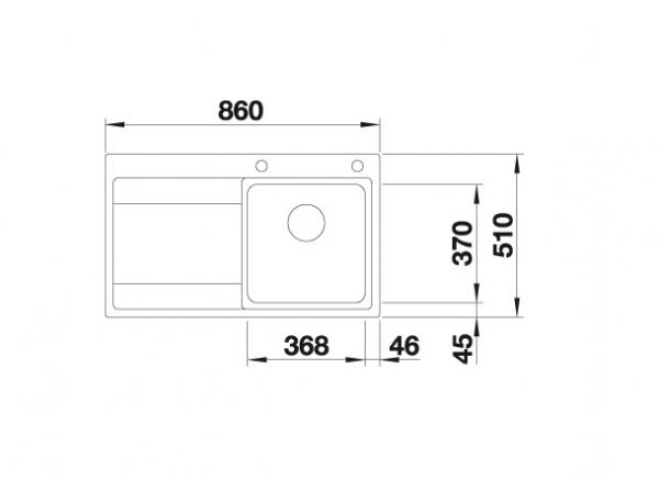 Blanco Divon Ii 45 S-If 521658 Spoelbak Rechts Rvs Inclusief Draaiknopbediening Vlakbouw Of Opbouw