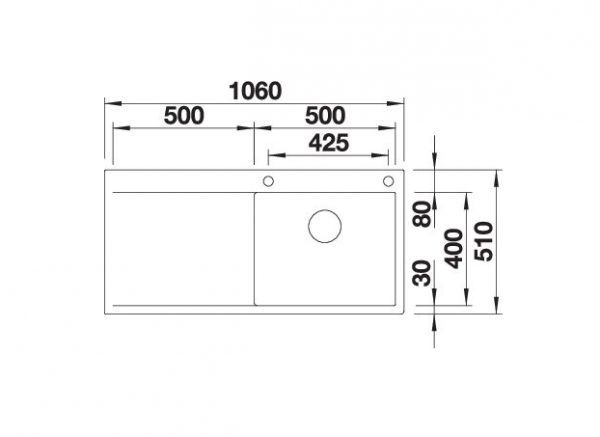 Blanco Flow Xl 6 S-If 521640 Spoelbak Rvs Inclusief Pushcontrol Bediening Vlakbouw Of Opbouw