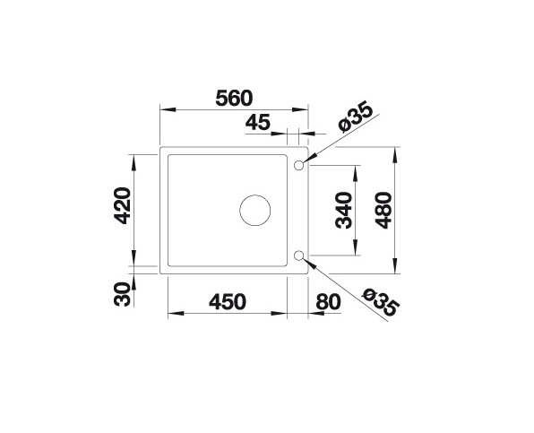 Blanco Claron Xl 60-If/a Steamerplus 521641 Spoelbak Rvs Inclusief Pushcontrol Bediening Vlakbouw Of Opbouw