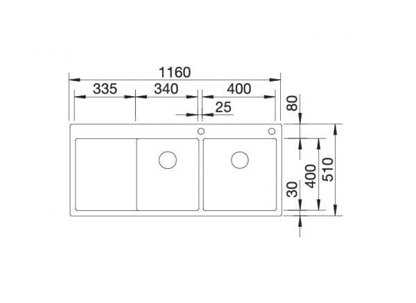 Blanco Claron 8 S-If 521651 Spoelbak Rechts Rvs Inclusief Pushcontrol Bediening Vlakbouw Of Opbouw