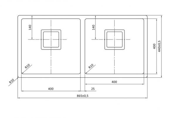 Lorreine 4040Vk Rvs Dubbele Spoelbak Kantelbare Korfplug Onderbouw-Vlakbouw-Opbouw
