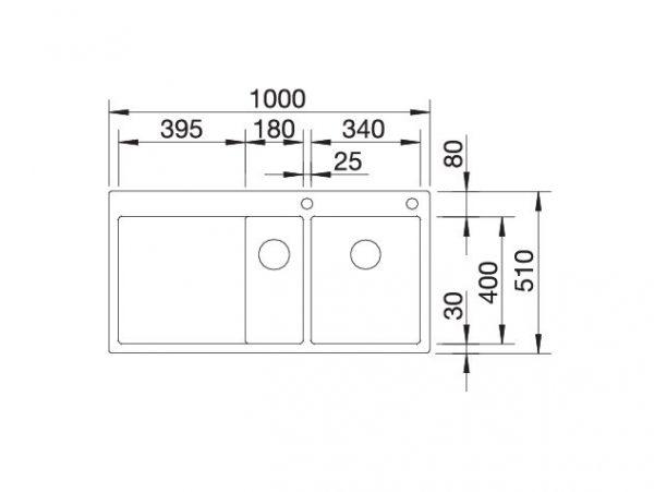 Blanco Claron 6 S-If 521646 Anderhalve Spoelbak Links Rvs Inclusief Pushcontrol Bediening Vlakbouw Of Opbouw