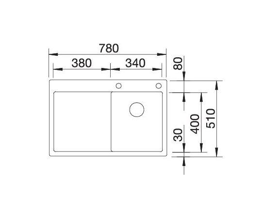 Blanco Claron 4 S-If 521623 Rvs Spoelbak Rechts Inclusief Pushcontrol Bediening Vlakbouw Of Opbouw