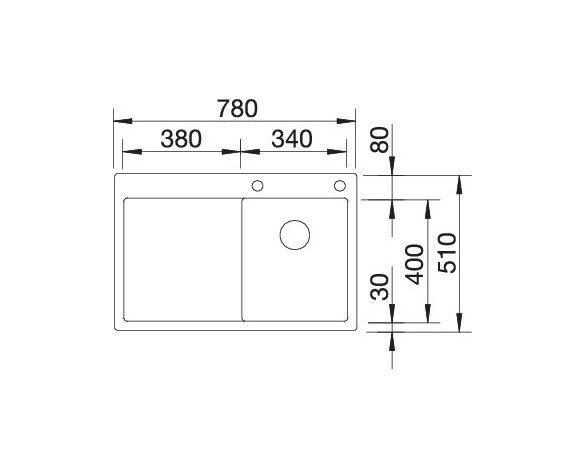 Blanco Claron 4 S-If 521624 Spoelbak Links Rvs Inclusief Pushcontrol Bediening Vlakbouw Of Opbouw