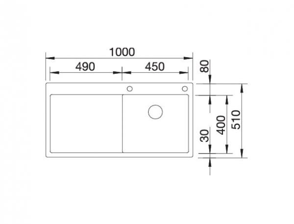 Blanco Claron 5 S-If 521625 Keukenpoelbak Rechts Rvs Inclusief Pushcontrol Bediening Vlakbouw Of Opbouw