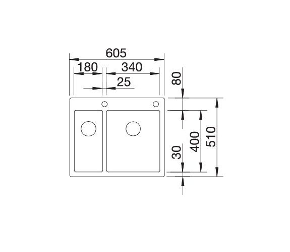 Blanco Claron 340/180-If/a 521647 Anderhalve Spoelbak Rvs Inclusief Pushcontrol Bediening Vlakbouw Of Opbouw