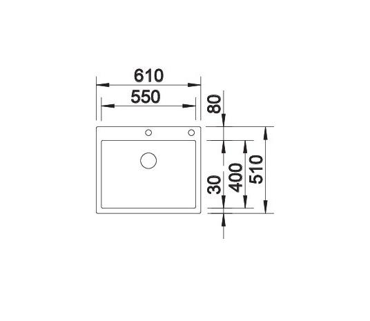 Blanco Claron 550-If/a 521639 Spoelbak Rvs Inclusief Pushcontrol Bediening Vlakbouw Of Opbouw