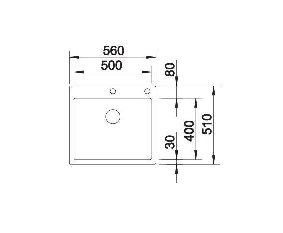 Blanco Claron 500-If/a 521633 Spoelbak Rvs Inclusief Pushcontrol Bediening Vlakbouw Of Opbouw