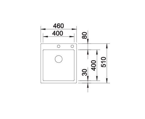 Blanco Claron 400-If/a 521632 Spoelbak Rvs Inclusief Pushcontrol Bediening Vlakbouw Of Opbouw