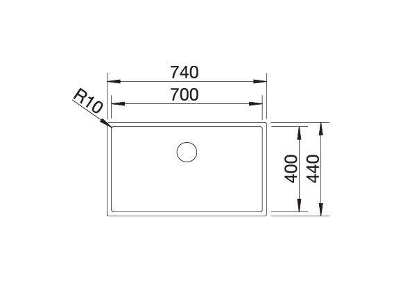 Blanco Claron 700-If 521580 Spoelbak Rvs Vlakbouw Of Opbouw
