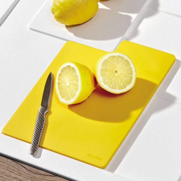 Blanco Sity Xl 6 S 525055 Spoelbak Rechts Silgranit Wit Inclusief Accessoires Lemon Geel Onderbouw Of Opbouw