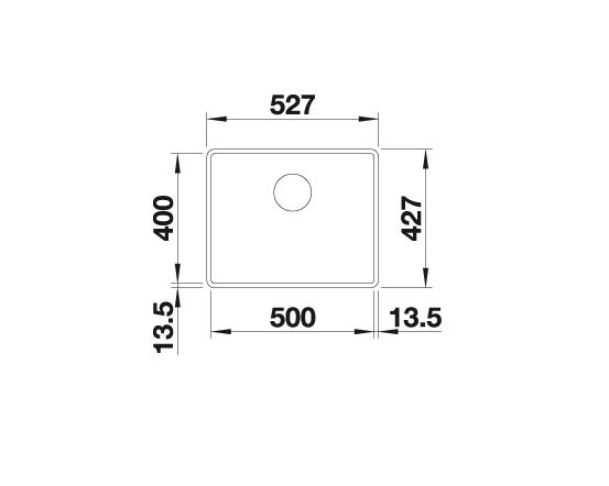 Blanco Subline 500-F 523532 Spoelbak Silgranit Antraciet Vlakbouw