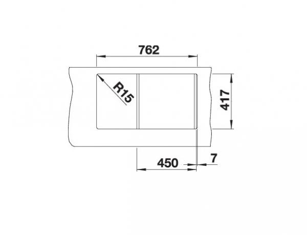 Blanco Flex Mini 511918 Spoelbak Rvs Omkeerbaar Opbouw