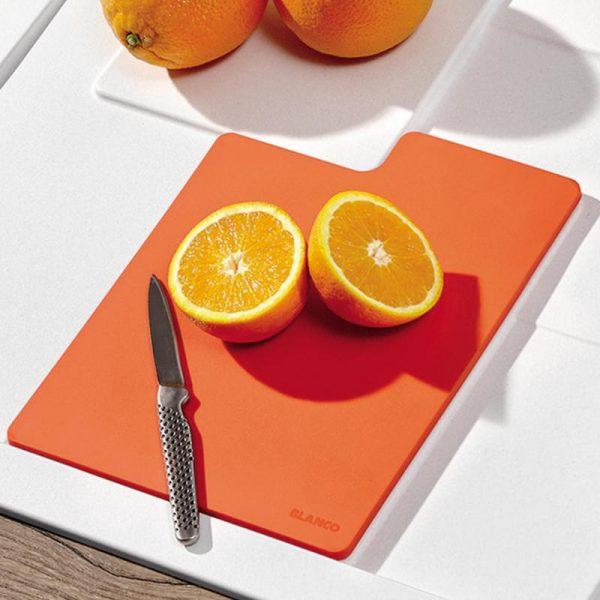 Blanco Sity Xl 6 S 525058 Spoelbak Rechts Silgranit Aluminium Metallic Inclusief Accessoires Orange Oranje Onderbouw Of Opbouw