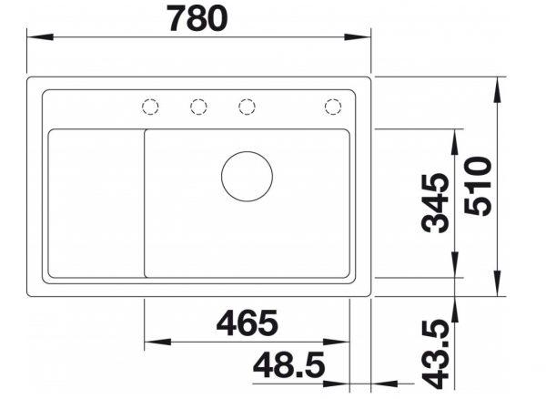 Blanco Zenar Xl 6-S Compact 523767 Parelgrijs Spoelbak Silgranit Inclusief Draaiknopbediening Inclusief Snijplank Onderbouw Of Opbouw