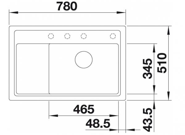 Blanco Zenar Xl 6-S Compact 523766 Aluminium Metallic Spoelbak Silgranit Inclusief Draaiknopbediening Inclusief Snijplank Onderbouw Of Opbouw