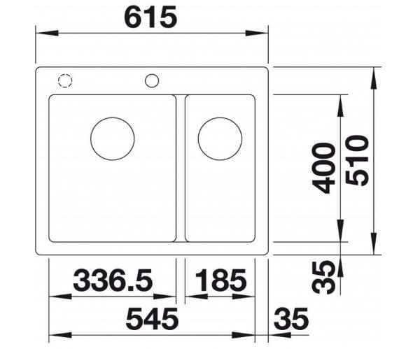 Blanco Pleon 6 523703 Tartufo Spoelbak Silgranit Inclusief Draaiknopbediening Onderbouw Of Opbouw