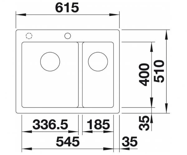 Blanco Pleon 6 Split 523696 Antraciet Spoelbak Silgranit Inclusief Draaiknopbediening Onderbouw Of Opbouw