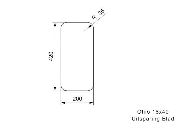 Reginox R25918 Ohio 18 X 40 Rvs Spoelbak Midnight Sky Onderbouw Of Vlakbouw