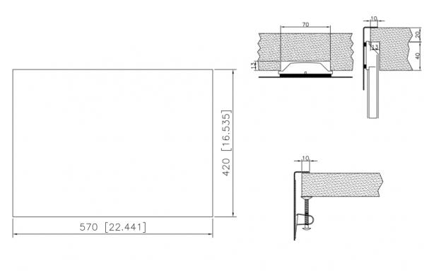 Caressi Special Capp55Q10 Rvs Spoelbak Met Vierkante Korfplug Onderbouw-Vlakbouw-Opbouw