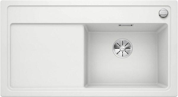 Blanco Zenar 5-S 523882 Wit Spoelbak Silgranit Inclusief Draaiknopbediening Inclusief Snijplank Onderbouw Of Opbouw