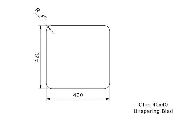 Reginox R25949 Ohio 40 X 40 Rvs Spoelbak Midnight Sky Onderbouw Of Vlakbouw