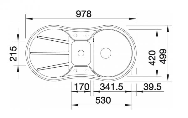 Blanco Cron 6 S 524086 Antraciet Spoelbak Silgranit Inclusief Draaiknopbediening Onderbouw Of Opbouw