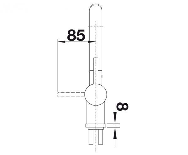 Blanco Linus-S 517643 Keukenkraan Keramiek Look Basalt Met Uittrekbare Handdouche
