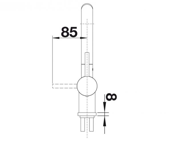 Blanco Linus-S 516708 Keukenkraan Keramiek Look Met Uittrekbare Handdouche Zwart