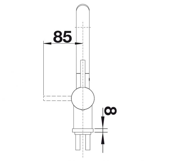 Blanco Linus-S 518813 Eenhendel Keukenkraan Silgranit Look Met Uittrekbare Handdouche Rotsgrijs