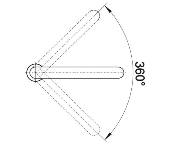 Blanco Eloscope-F Ii 516672 Eenhendel Keukenkraan Voor Raammontage Chroom