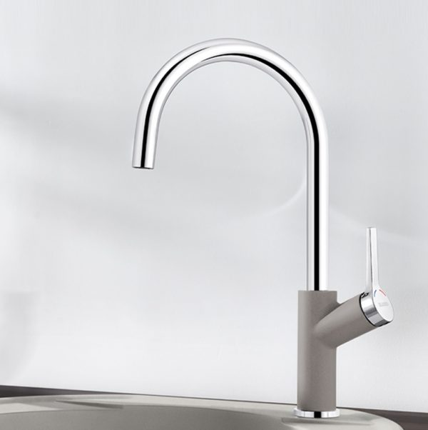 Blanco Carena 520973 Keukenkraan Silgranit-Look Aluminium Metallic