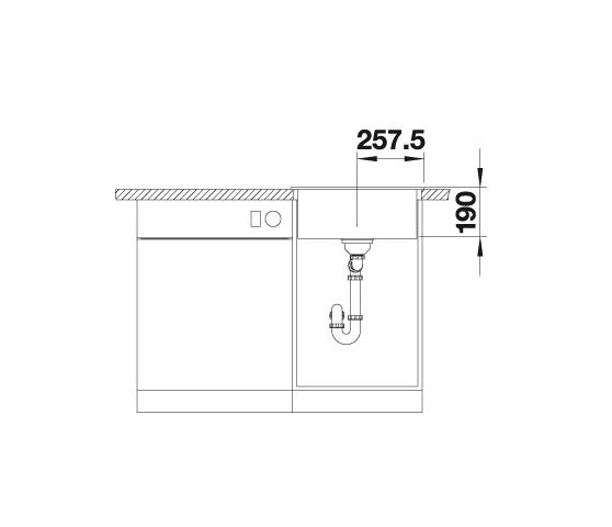 Blanco Dalago 5 518521 Spoelbak Silgranit Antraciet Inclusief Draaiknopbediening Onderbouw Of Opbouw
