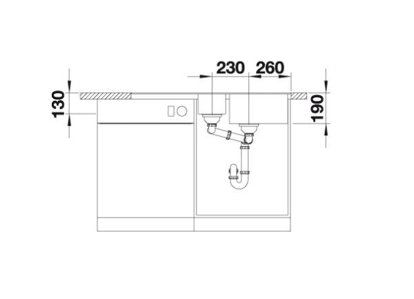 Blanco Metra 6 S-F 519114 Spoelbak Silgranit Aluminium Metallic Inclusief Draaiknopbediening Omkeerbaar Vlakbouw Of Onderbouw