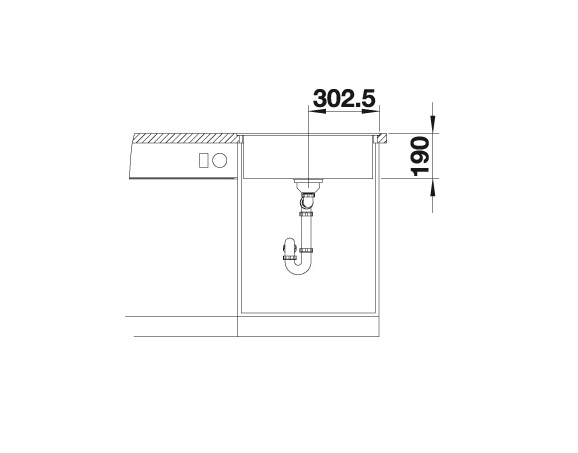 Blanco Dalago 6-F 517657 Spoelbak Silgranit Jasmijn Inclusief Draaiknopbediening Vlakbouw Of Onderbouw