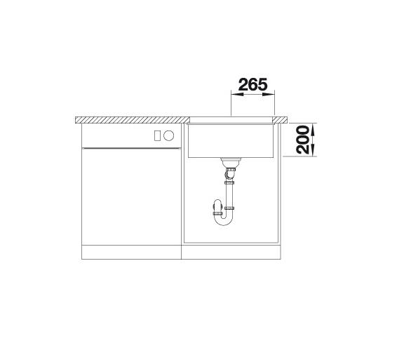 Blanco Etagon 500-U 522231 Spoelbak Silgranit Wit Inclusief Rails Onderbouw