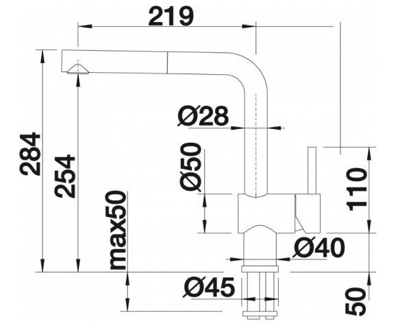 Blanco Linus-S 512403 Keukenkraan Met Uittrekbare Handdouche Mat Chroom