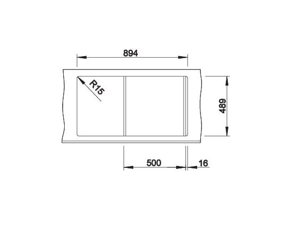 Blanco Axis Iii 5 S-If 522103 Spoelbak Rvs Inclusief Draaiknopbediening Inclusief Glazen Snijplank Omkeerbaar Vlakbouw Of Opbouw