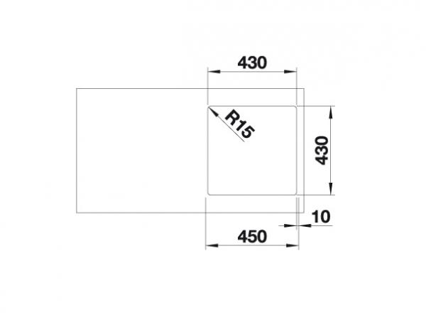Blanco Supra 400-If 523356 Spoelbak Rvs Vlakbouw Of Opbouw