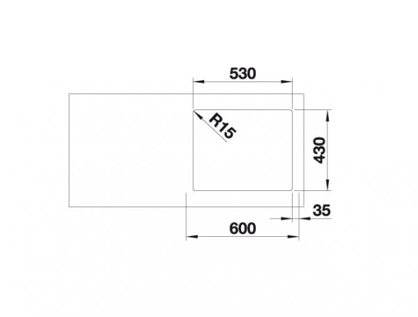 Blanco Supra 500-If 523361 Spoelbak Rvs Vlakbouw Of Opbouw