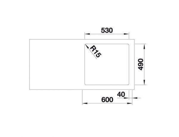 Blanco Etagon 500-If/a 521748 Spoelbak Rvs Inclusief Draaiknopbediening Inclusief Rails Vlakbouw Of Opbouw