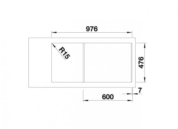 Blanco Andano Xl 6 S-If 522999 Spoelbak Rechts Rvs Inclusief Draaiknopbediening Vlakbouw Of Opbouw