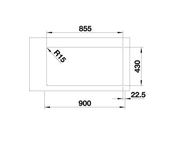 Blanco Andano 400/400-If 522985 Dubbele Spoelbak Rvs Vlakbouw Of Opbouw