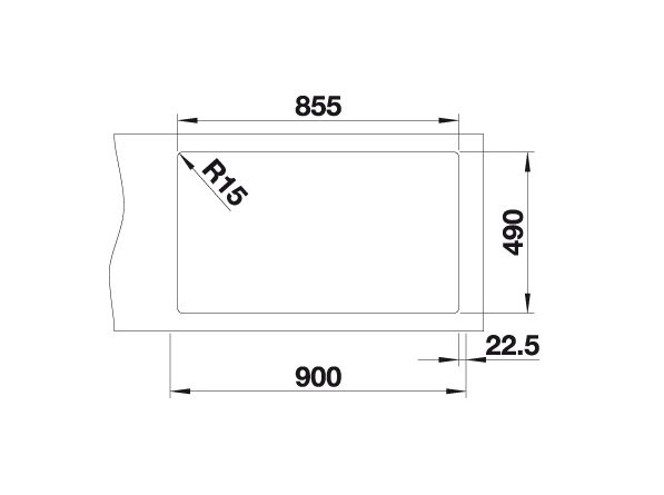Blanco Andano 400/400-If/a 522998 Dubbele Spoelbak Rvs Inclusief Draaiknopbediening Vlakbouw Of Opbouw