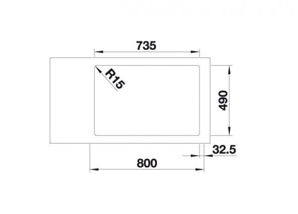Blanco Andano 340/340-If/a 522997 Dubbele Spoelbak Rvs Inclusief Draaiknopbediening Vlakbouw Of Opbouw