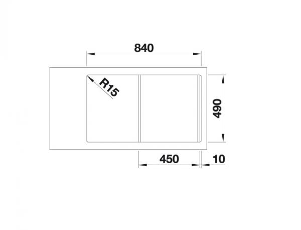 Blanco Divon Ii 45 S-If 521657 Spoelbak Links Rvs Inclusief Draaiknopbediening Vlakbouw Of Opbouw