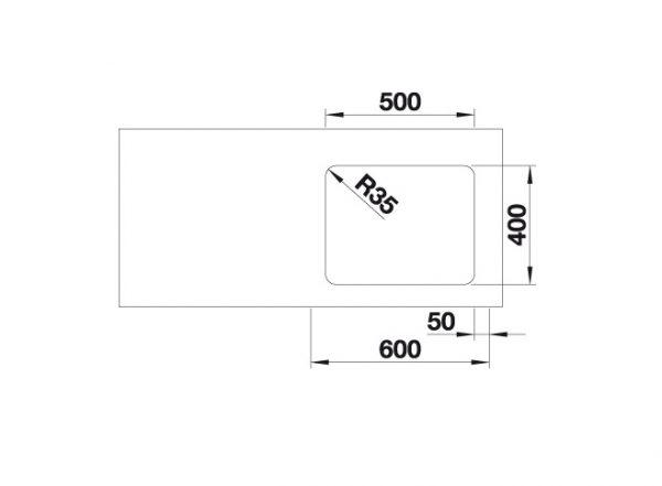 Blanco Etagon 500-U 521841 Spoelbak Rvs Inclusief Rails Onderbouw